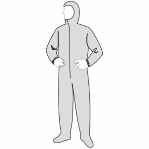 PolyGard™ coverall - heavy weight - attached hood & boots, elastic wrists