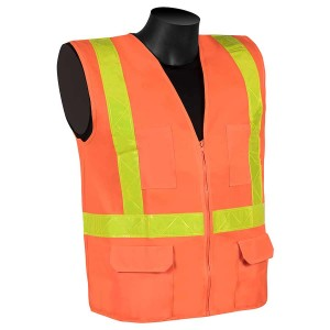 Class 2 - Surveyors vest (solid fabric with PVC stripes)