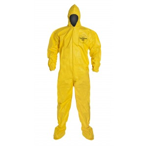 TyChem® QC coveralls attached hood & boots - Bound Seams