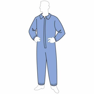ProGard™ blue coverall - elastic wrists & ankles