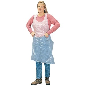DuraWear® white polyethylene disposable apron