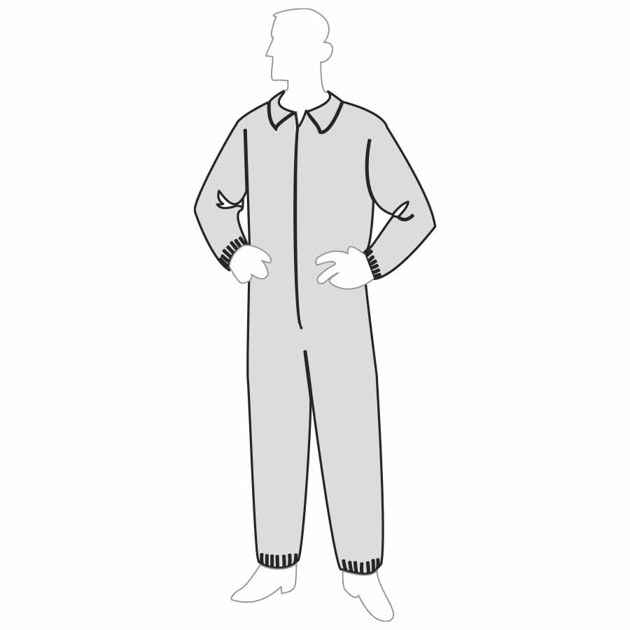 PolyGard™ Coverall - Heavy Weight - Elastic Wrists & Ankles