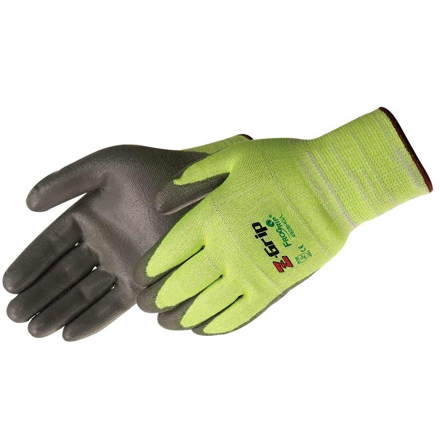 Z-Grip®  Hi-Vis green seamless shell (PU coated)