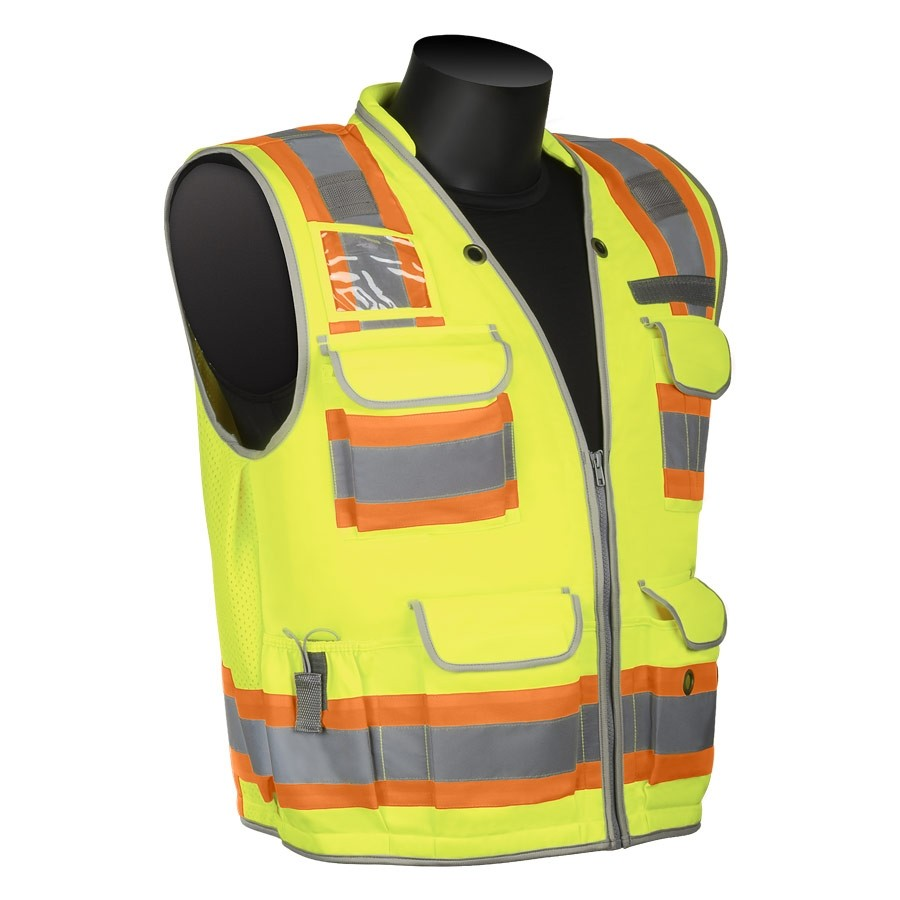 Class 2 - Solid Front and Back Engineer Surveyor's Vest