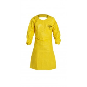 TyChem® QC apron open sleeve - Bound Seams