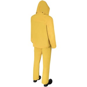 DuraWear® 2 Layers PVC/Polyester 2-Piece Yellow Rainsuit