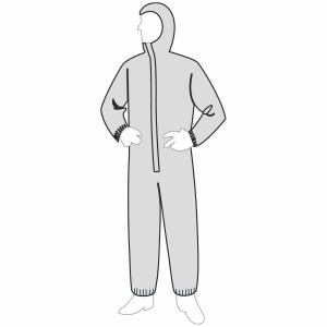 PermaGard II™ Coverall - Attached Hood and Elastic Wrists & Ankles