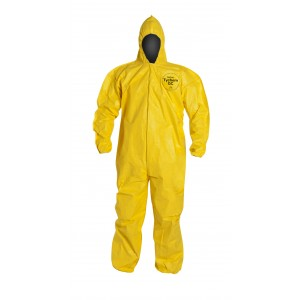 TyChem® QC coveralls attached hood - Bound Seams